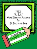 "{FREEBIE} ""R, S, L"" Word Search Puzzles for St. Patrick's Day"