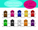 FREEBIE Rainbow Crayon Friends Clip Art