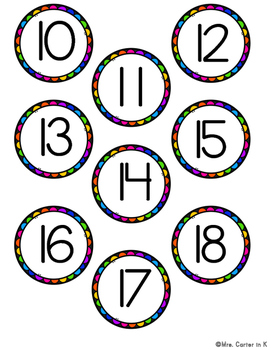 FREEBIE - Rainbow Number Labels