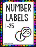 FREEBIE - Rainbow Number Labels