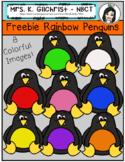 FREEBIE Rainbow Penguin Clipart Set - Commercial Use Okay!