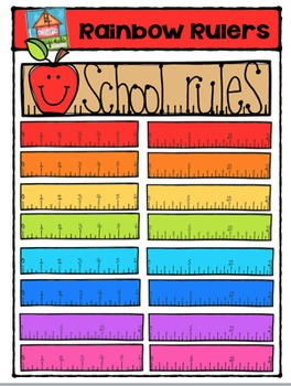 FREEBIE Rainbow Rulers {P4 Clips Trioriginals Digital Clip Art}