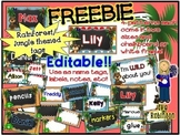 FREEBIE- Rainforest/Jungle themed EDITABLE tags!