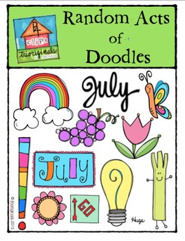 FREEBIE Random Acts of Doodles SNEAK PEEK [P4 Clips Trioriginals Digital Clips}