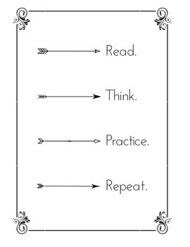 FREEBIE: Read/Think/Practice/Repeat poster