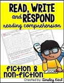 FREE PREVIEW! {Read, Write and Respond} Fluency, Comprehension & Questioning