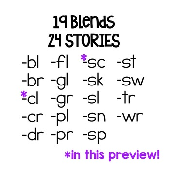 Phonics Reading Passages for Fluency & Comprehension - Blends - FREE PREVIEW!