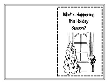 "FREEBIE!  Reader with task cards ""What's Happening This Holiday Season?"""