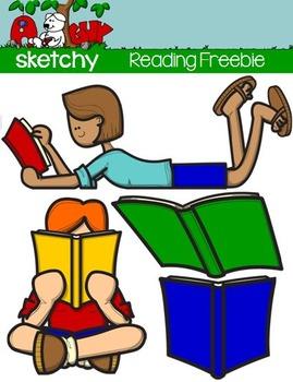 FREEBIE Reading / Book Clip art - Graphics