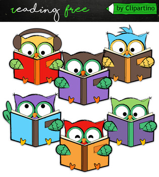 FREEBIE Reading Clipart
