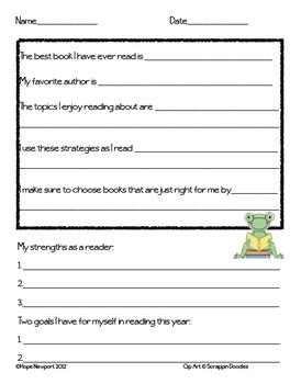 FREEBIE Reading Interest Survey