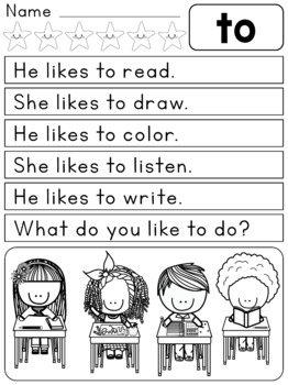 FREEBIE SAMPLER: Reading Rabbit : Sight Word Sentences Set 1 : Guided Reading