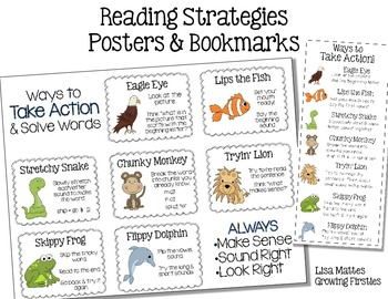 FREEBIE Reading Strategies Posters & Bookmarks (decoding) by ...