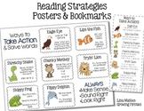 FREEBIE Reading Strategies Posters & Bookmarks