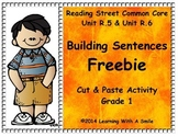 Reading Street FIRST GRADE Free  BUILDING SENTENCES  Cut and Paste
