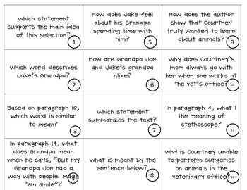 "Test Prep ""Answering Reading Test Questions"" Sort"