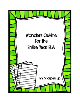 FREEBIE Reading Wonders McGraw Hill Kindergarten Outline for the Entire Year