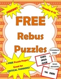 FREEBIE: Rebus Puzzles for Critical Thinking