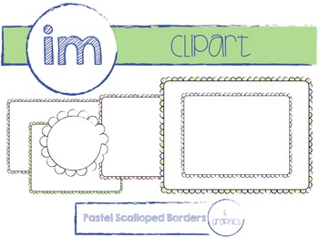 Rectangular Pastel Scalloped Borders (Commercial Use)