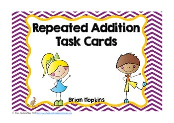 FREEBIE Repeated Addition Task Cards - Fish Theme