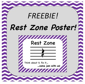 FREEBIE Rest Zone Poster