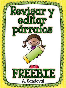 FREEBIE Revise and Edit Paragraphs in Spanish