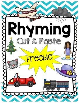 FREE Rhyming Cut & Paste