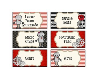 **FREEBIE** Robot Labels (not editable)