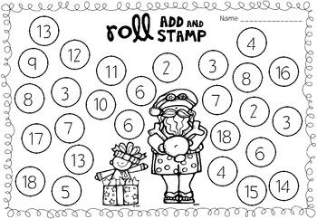 FREEBIE Roll, Add & Stamp (Christmas)