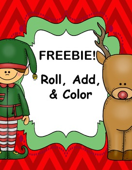 FREEBIE!  Roll, Add, and Color Christmas Printables