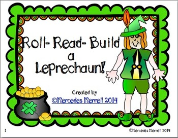 FREEBIE Roll-Read-Build a Leprechaun!