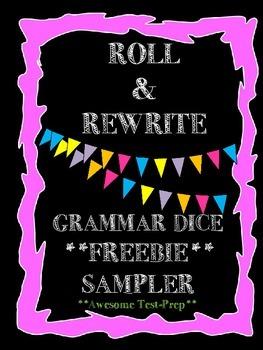 FREEBIE- Roll & Rewrite Grammar Cubes- Editing and Revising Center Activity