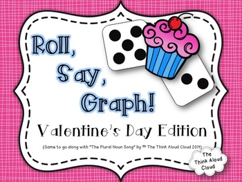 FREEBIE Roll, Say, Graph!  Literacy and Math {Valentine's