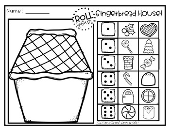 FREEBIE - Roll a Gingerbread House