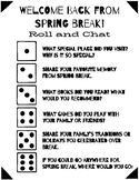FREEBIE! Roll or Stack and Chat Spring Break Edition {Editable}