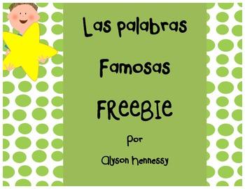 FREEBIE! Roll the Sight Word (Spanish Edition)