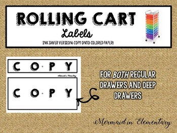FREEBIE Rolling Cart Labels