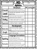 FREEBIE Rubrics for Writer's Workshop Opinion, Narrative, Information Writing