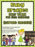 {FREEBIE} Ruby Bridges Busy Work for First Graders