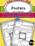 FREE All About Me Posters for Beginning and End of Year