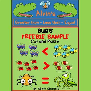 Bugs - Greater Than Less Than Equal To (Cut and Paste) FREEBIE SAMPLE