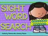 FREEBIE SAMPLE Sight Word Search Puzzles No Prep Printables