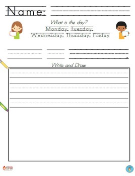 FREEBIE SAMPLER - Daily Writing Printables - 2 Versions