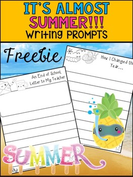 FREEBIE SAMPLER - It's Almost Summer - Writing Prompts -  Peppy Pencil
