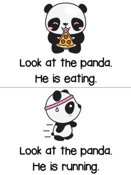 FREEBIE SAMPLER: Kindergarten Emergent Reader Book : Popo Panda
