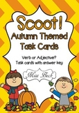 SCOOT! Autumn Themed Verb or Adjective Task Cards