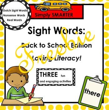 SIGHT WORDS FREEBIE:  Back to School Edition
