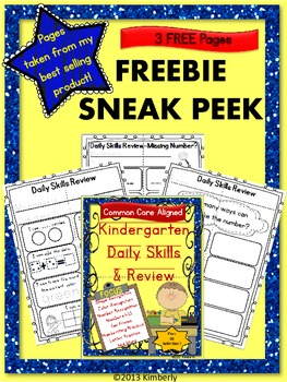 Free examinations quizzes resources lesson plans teachers pay sneak peek kindergarten daily skills review common core aligned fandeluxe Images