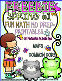 FREEBIE SPRING FUN MATH NO PREP PRINTABLES COMMON CORE MAFS PACKET