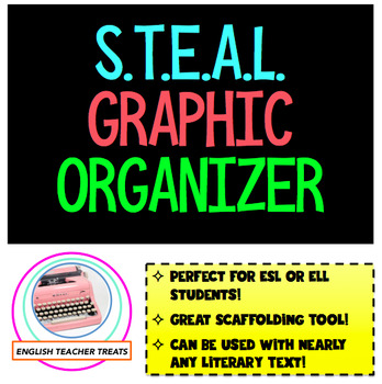 FREEBIE!  STEAL Graphic Organizer for Characterization